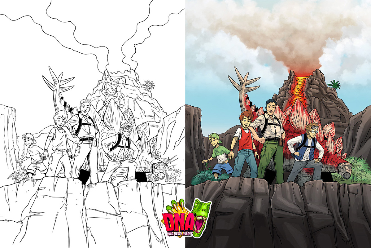 Dinosaur Comic Illustration Coverart Cover Coverartwork byrdylicious