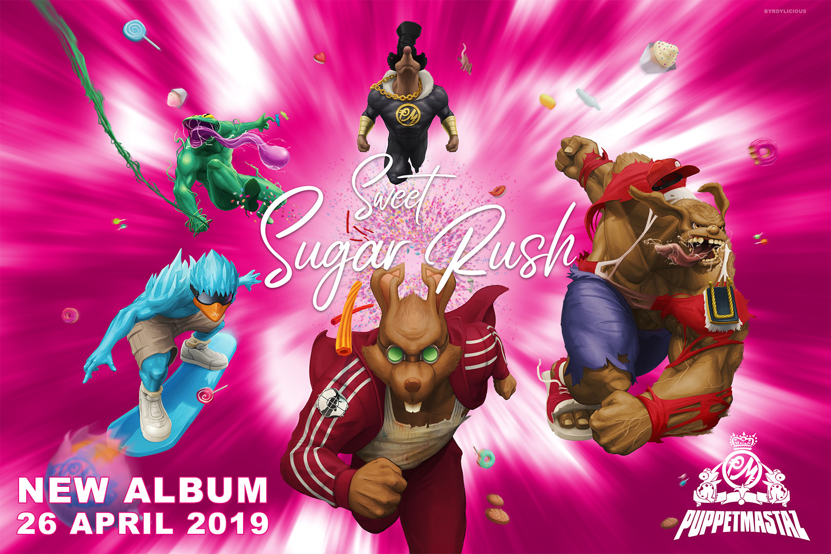 Sweet Sugar Rush Music Album Marketing Art