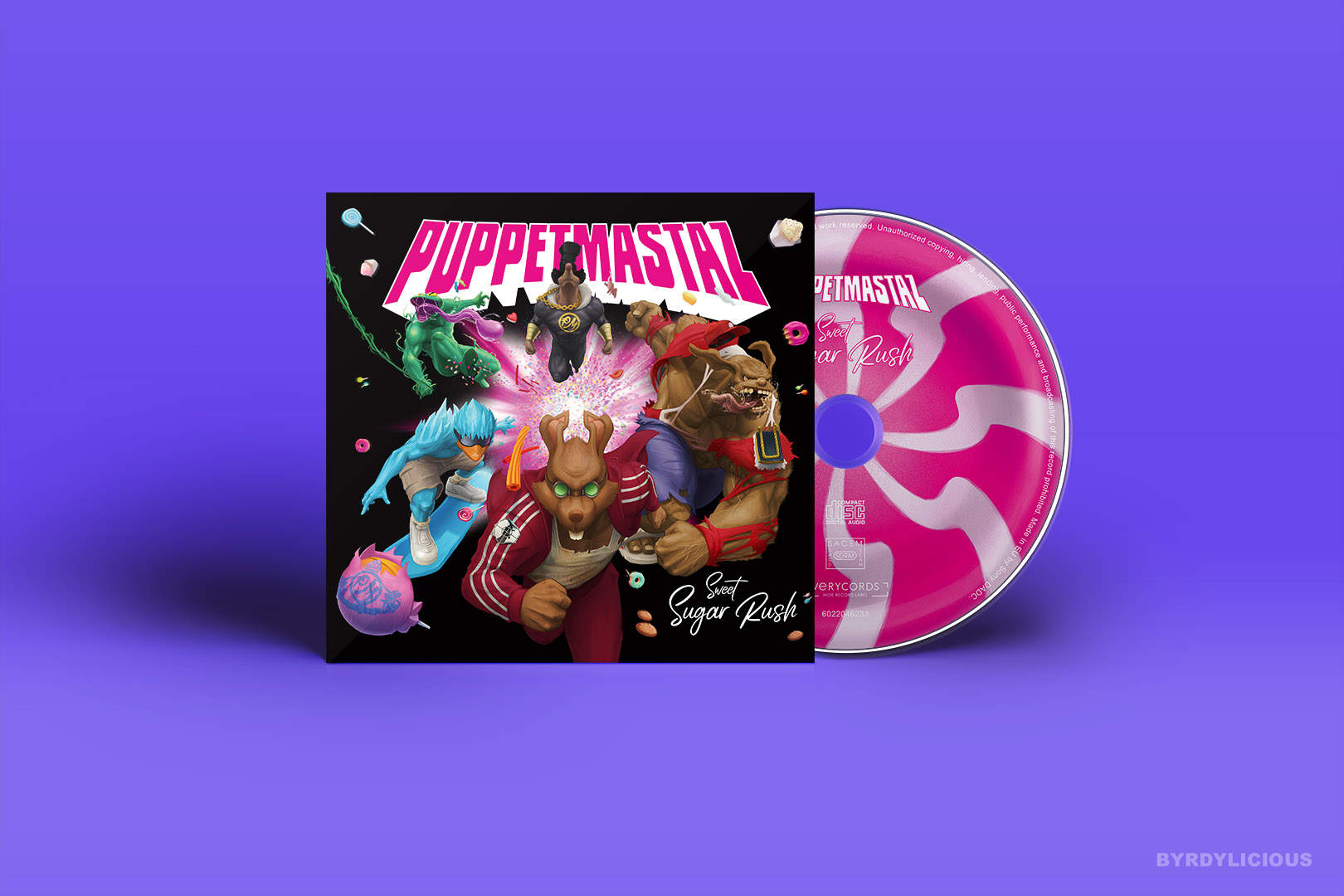 Sweet Sugar Rush Music Album Cover and Cd Artwork