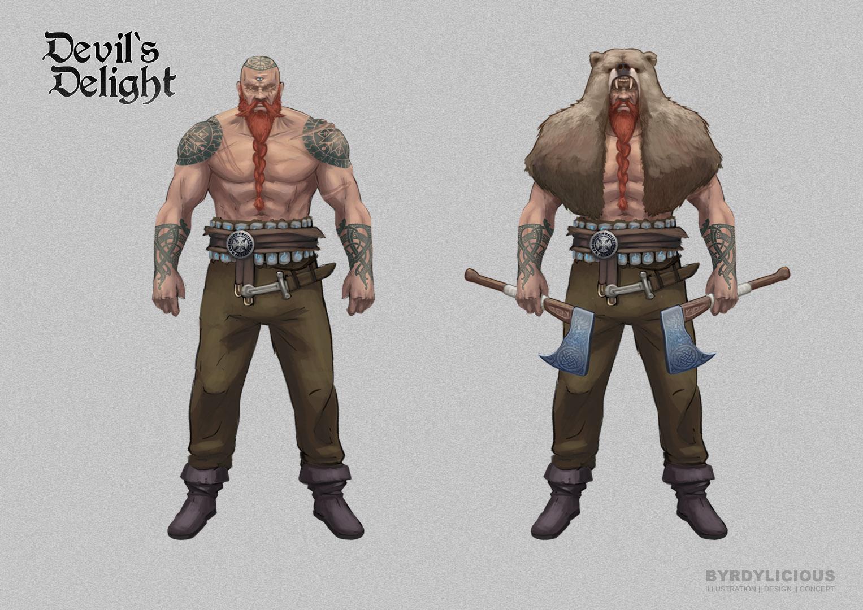 viking accessoires character design concept art byrdylicious