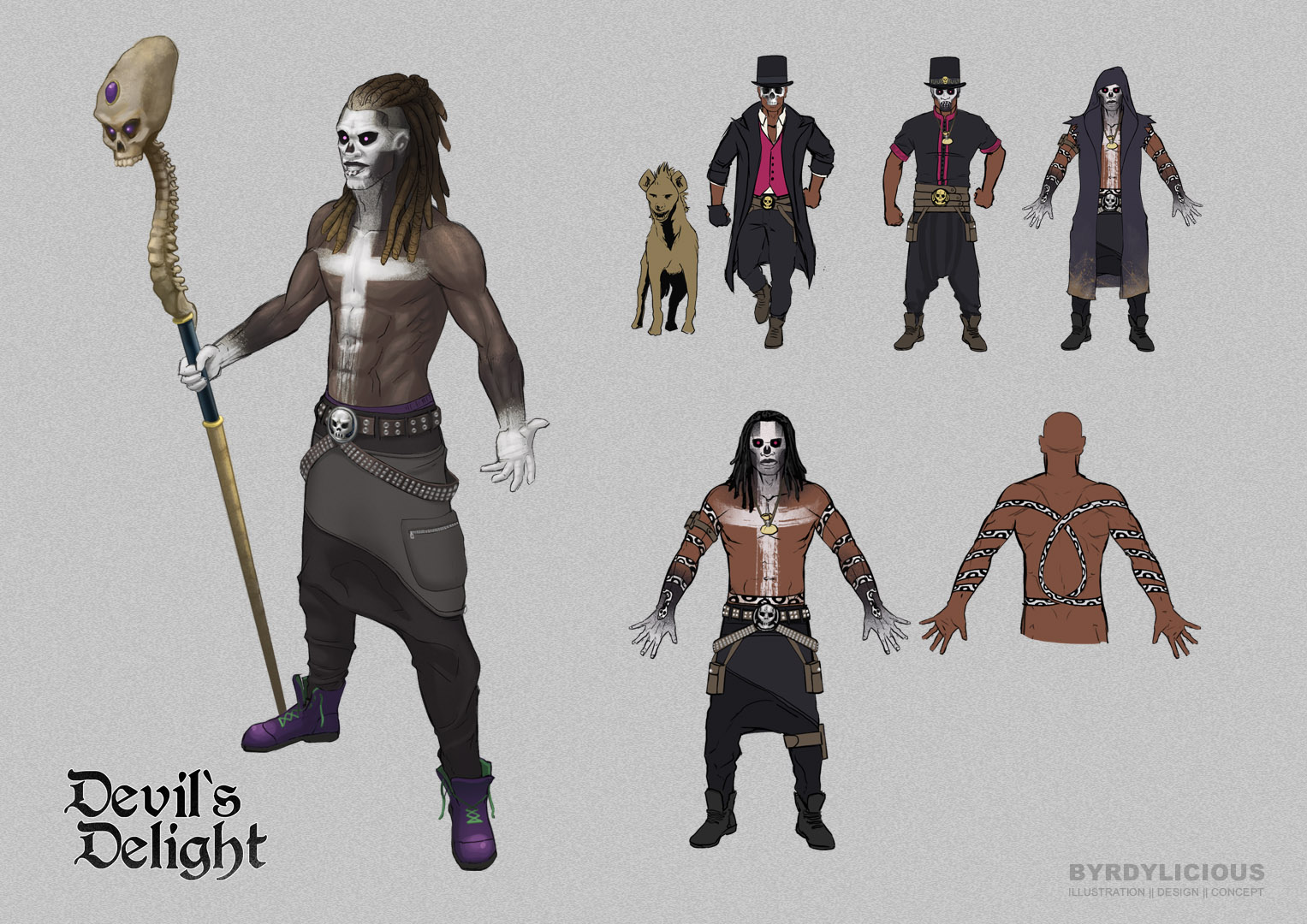 voodoo accessoires character design concept art byrdylicious