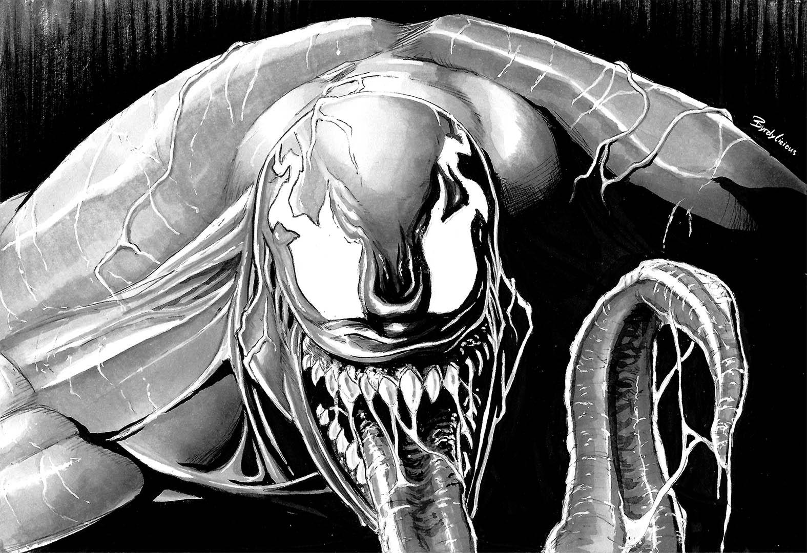 venom fanart byrdylicious